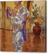 Maya Woman-mexico V2 Canvas Print
