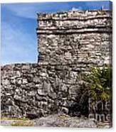 Mayan Building At Tulum Canvas Print