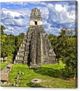 Mayan Temple At Tikal Canvas Print