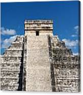 Mayan Temple Pyramid At Chichen Itza Canvas Print