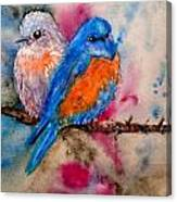 Maybe She's A Bluebird Cropped Canvas Print