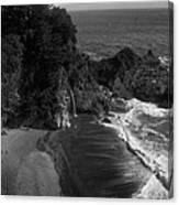 Mc Vay Falls In Monochrome  Canvas Print