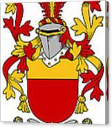 Mccarron Coat Of Arms Irish Canvas Print