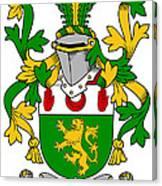 Mccartan Coat Of Arms Irish Canvas Print
