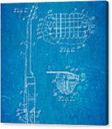 Mccarty Gibson Les Paul Guitar 2 Patent Art 1955 Blueprint Canvas Print