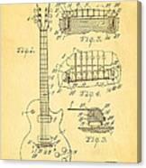 Mccarty Gibson Les Paul Guitar Patent Art 1955 Canvas Print