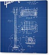 Mccarty Gibson Les Paul Guitar Patent Drawing From 1955 - Bluepr Canvas Print