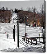 Mccauley Mountain Ski Area Vi- Old Forge New York Canvas Print