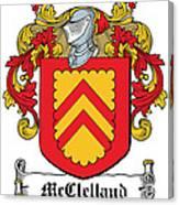 Mcclelland Coat Of Arms Ulster Ireland Canvas Print