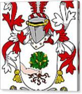 Mccluskie Coat Of Arms Irish Canvas Print