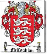 Mccoghlan Coat Of Arms Irish Canvas Print