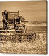 Mccormic Harvester In Sepia 5 Canvas Print