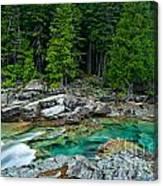 Mcdonald Creek In Glacier National Park Canvas Print