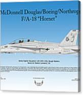 Mcdonnell Douglas Boeing Northrop Fa-18 Hornet Canvas Print
