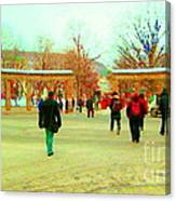 Mcgill Univ Students And Faculty College Campus Montreal Memories Collectible Art Prints C Spandau Canvas Print