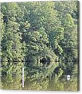 Mckamey Lake Calm Reflections Canvas Print