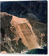 Aerial Of Mcway Landslide Big Sur California 1984 Canvas Print