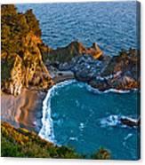 Mcway Waterfall. Big Sur Canvas Print