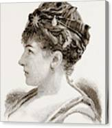 Mdme. Marie Roze, Of Her Majestys Opera Canvas Print