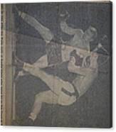 Me Fighting Bill Waits 1954 Canvas Print
