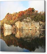 Mead's Quarry In Autumn Canvas Print