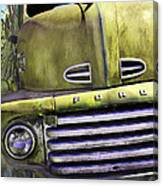 Mean Green Ford Truck Canvas Print