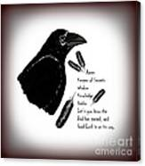 Meaning Of Raven Canvas Print