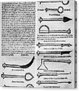Medical Instruments, 1531 Canvas Print