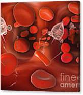 Medical Nanobots In The Bloodstream Canvas Print