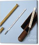 Medical Thermometers, 19th Century Canvas Print