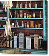 Medicinals In An Old General Store Canvas Print