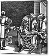 Medicine: Surgery, 1537 Canvas Print