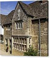Medieval Houses In Lacock Village Canvas Print