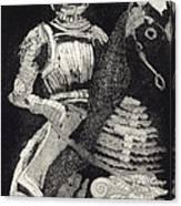 Medieval Knight On Horseback - Chevalier - Caballero - Cavaleiro - Fidalgo - Riddare -ridder -ritter Canvas Print