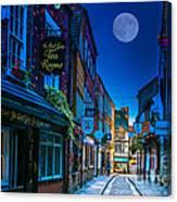 Medieval Street In York Uk Canvas Print