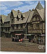 Medieval Town Square Canvas Print