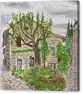 Medieval Village In France 2012 Canvas Print