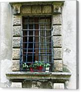 Medieval Window With Iron Grilles Canvas Print