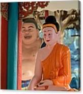 Meditating Buddha In Lotus Position Canvas Print