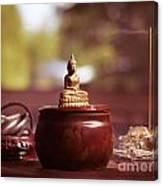 Meditating Buddha Statue Canvas Print