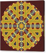 Meditating On Life - Mandala Canvas Print