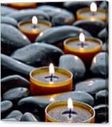 Meditation Candles Canvas Print