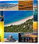 Mediterranean Coast Collage Canvas Print