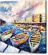 Mediterranean Port Colours Canvas Print
