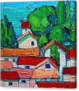 Mediterranean Roofs 1 2 3 Canvas Print