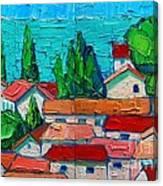 Mediterranean Roofs 1 2 Canvas Print