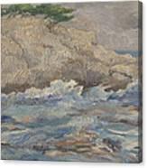 Mediterranean Sea Rocks Canvas Print