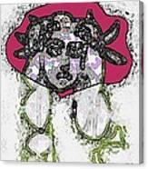 Medusa Looking Through Canvas Print