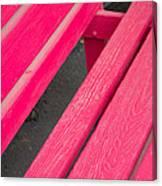 Wimberley Texas Market Red Bench Canvas Print