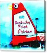 Meet Me At The Big Chicken Canvas Print